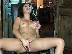 Have a blast watching this brunette babe, with a nice ass wearing high heels, while she masturbates fervently until she has an orgasm.