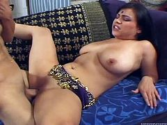 Busty Indian whore rides her lover's dick in cowgirl position
