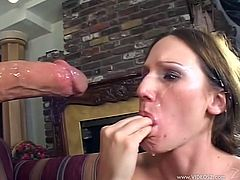 The beautiful Gen Padova enjoys getting her face hardcore fucked before taking that big hard cock up her yummy little pussy.