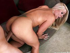 Busty slut Holly Heart gets brutally fucked from behind
