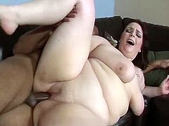 Watch this voracious brunette BBW. She sucks this BBC deepthroat and is pumping big black dick with her mouth lips. She also polishes dude's balls. Later on she gets penetrated in her pussy hole in a missionary position. I am a very big fan of watching BBW getting fucked by BBC. Are you?