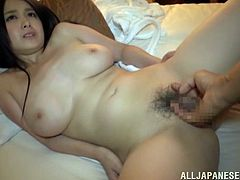 Click to watch this Asian chick, with giant gazongas and a hairy pussy, while she gets badly screwed doggystyle and moans like a slut.