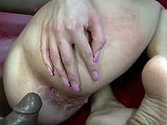 Have fun with this rough interracial scene where the slutty blonde Kelly Wells has her tight asshole drilled by a black monster cock as you hear her moan like never before.