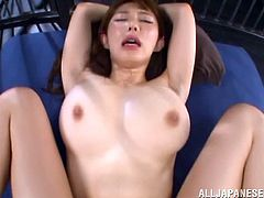 Bosomy Japanese girl Azumi Kinoshit gets pounded in POV