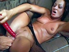 Get a load of this hardcore scene where the slutty brunette Sandra Romain has her tight asshole stretched out by this guy after she sucks on his dick.