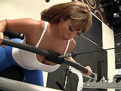 Take a look at this hardcore scene where the sexy Ava Devine is fucked by her gym instructor as you hear her moan.