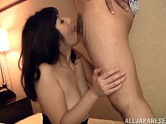Watch this hardcore scene as this guy wakes this sexy mature Asian from her sleep to have sex. Watch her sucking on his hard cock before being fucked.