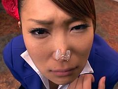 Yuuno Hoshi gives a blowjob in another weird Japanese clip