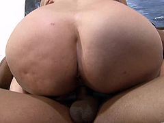 Insatiable well-stacked bitch sucks massive prick and gets her snatch banged mish. Thereafter she rides BBC in a cowgirl pose and gets rammed doggystyle.