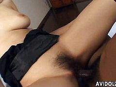 Asian girl likes to blow and then fuck hard