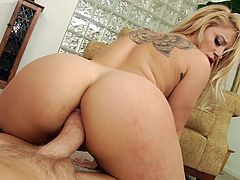Press play on this hardcore scene and get a load of Cameron Canada's amazing ass before you watch this blonde sucking this guy's big cock before being fucked in her ass.