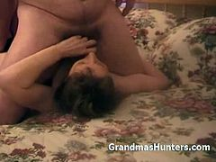 Grandmas Hunters brings you a hell of a free porn video where you can see how a wild mature brunette in stockings gets banged very hard into a breathtaking orgasm.