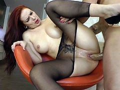 Make sure you take a look at Lamia Dark's amazing ass int his hardcore scene where she's fingered before being fucked by a big fat cock.