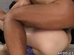 AvidolZ brings you a hell of a free porn video where you can see how this horny Japanese brunette gets dildoed and fucked hard into heaven while assuming hot poses.