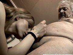 Watch this brunette teen got paid for sex. Old dude avail of her services and invited her to his pad for them to have some sensual hardcore fuck all day long.