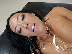 The gorgeous Rio Lee gives Lexington Steele the hottest blowjob and enjoys his huge black cock drilling her pussy doggystyle.