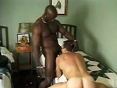 Check this ebony fellow, with a great butt and a gigantic shaft, goes really hardcore with a white man doggystyle and moans like a wild animal.