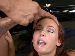 Redhead Beauty Gets A Nasty Facial After A Hardcore Fuck