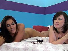 Hot and torrid Jennifer White and Mischa Brooks smoke cigarettes