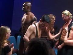 Have fun with this hardcore scene as you watch these beautiful ladies being fucked by horny fellas in a massive orgy you'd love to be a part of.