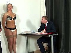 Nude job interview for a teen