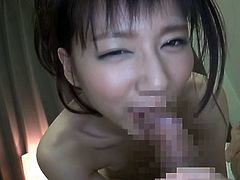 Lascivious Asian strumpet lets cocky dude rub her cunt with Hitachi massager and blows his stiff dick. Then she rides that tool in a cowgirl pose and gets doggyfucked.