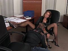 These two worked late at the office. Once their co-workers were gone they got naked in the office and fucked like wild fire.