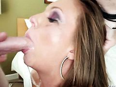Jonni Darkko makes Maddy OReilly suck his thick meat pole non-stop