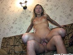 Amazing Amateur Teen With Long Hair Is Smashed Doggystyle