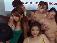 Asia Movie Pass brings you a hell of a free porn video where you can see how these asian brunette sluts start an amazing orgy as they get banged and go lesbo.