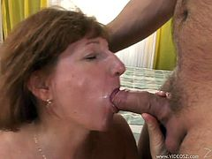 Voracious skank provides man with terrific blowjob and gets her loose twat licked. She rides that tool on top and gets doggyfucked before getting her asshole fucked in a sideways pose.