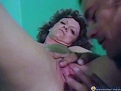 Guy passionately kisses a woman's pussy