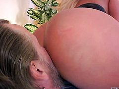 Julie Cash is on the way to the height of pleasure with hard dicked fuck buddy Tom Byron