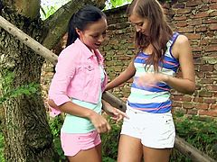 Fantastic Bailey Ryder And Connie Smith Have Lesbian Forest Sex