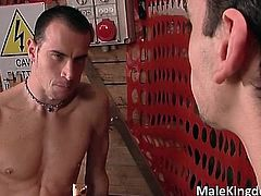 Two horny gay are half naked on a work part4