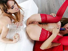 Alice Romain is on fire in girl-on-girl action with lovely Leyla Black