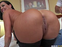 Jezebelle and her husband want to make a sex tape, but a little differently than you might think. Her hubby isn't well hung, but their friend Mick has a big cock and she always wanted to fuck him. What better way to realize her fantasy than having her man film it? Mick plows her from behind.