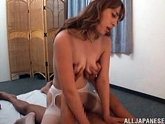 Have fun with this hot scene where this naughty Asian nurse has fun with a horny and very lucky patient that ends up fucking her silly.