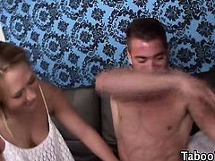 Step sister teen gets fingered