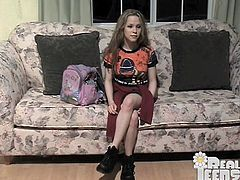 Admirable blonde chick Fiona, wearing a miniskirt, strips and shows her nice natural tits for the cam. After that the cutie fingers her pussy and stuffs it with a vibrator.