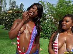 Watch out, these black whores are smoking hot and Tarzan is about to go wild with them! The bitches have big, black and round asses, just the way we like them and they are not afraid of a white man's cock! So, after a little outdoor fun, Tarzan goes inside with them where he feeds them with white meat, enjoy!
