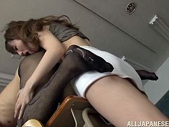 Check out this hardcore scene where the horny Asian teacher Beni Itou is fucked by one of her lucky students right after class.