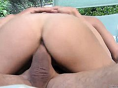 Dillion Harper is horny as fuck with Peter Norths meat pole in her mouth