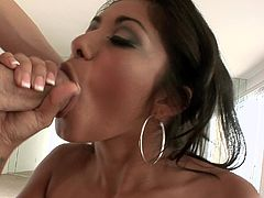 Ruby Rayes gives head and gets cum on her beautiful face