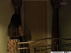 Kinky guy roped his booty Asian wifey and planned to doggy fuck her