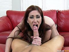 Have a look at this hardcore scene where the sexy redhead milf Tiffany Mynx is fucked by her neighbor's horny son.