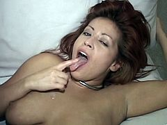 Blowjob Giving Redhead Gets Cumshot After Rimjob And Cunt Pounding
