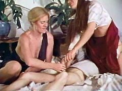 Steamy FFM threesome retro compilation video for free