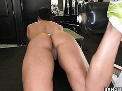 Chachita Becca Diamond takes dudes stiff sausage so fucking deep after warm-up