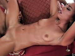 Alexa James spends her sexual energy with horny guy